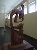 Modern Balinese wood sculpture.