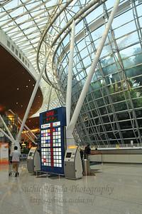 Malaysia's swanky KLIA - Kuala Lumpur International Airport in KL, Malaysia as seen on our way back to India.