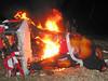 Ritual burning of ogoh-ogoh.