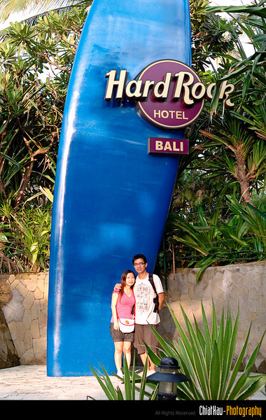 we also stop by at the Hard Rock Bali for shot.
