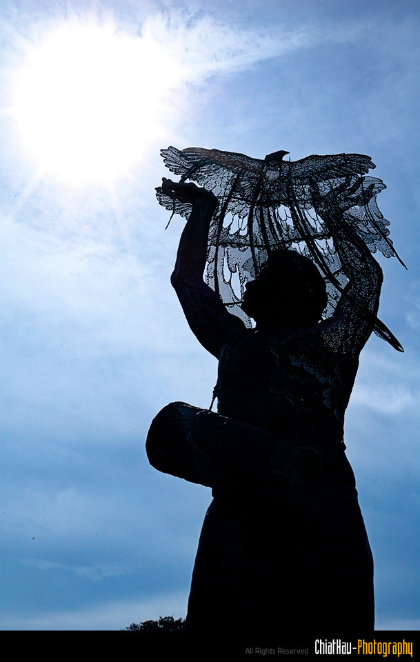 This is the statue that they built to memorize the victims in the bombing incident @ Bali.