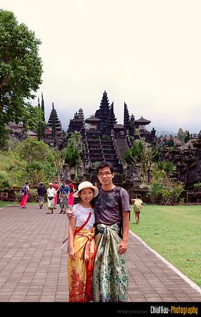 "LB & Me... (with our batik on!):""P haha"
