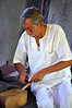 Healer shaving sandalwood medicine