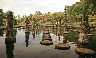 Het waterpaleis van Tirtagganga. Bali, Indonesië.