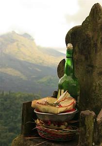 Offertjes voor Gunung Batur. Bali, Indonesië.
