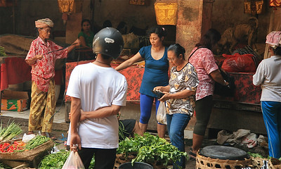 De markt van Ubud. Ubud, Bali, Indonesië.