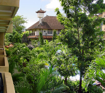 View from the hotel room balcony Bali Indonesia - 17 Apr 2006