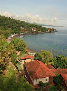De baai van Amed. Bali, Indonesië.