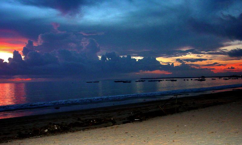 Sunset and clouds Jimbaran Bay Bali Indonesia - 16 Apr 2006