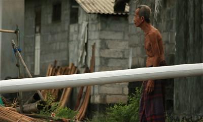 Inwoner van Amed. Bali, Indonesië.