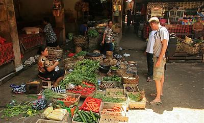 Op de markt van Ubud. Ubud, Bali, Indonesië.