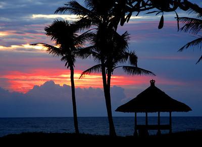 A Balinese sunset.