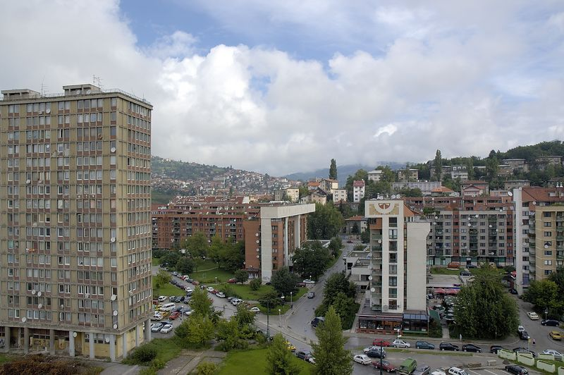 Sarajevo View from Holiday Inn
