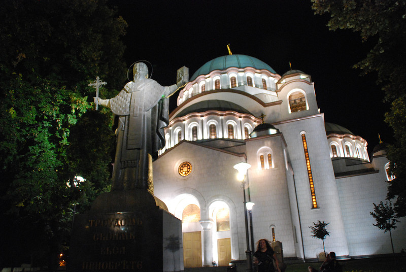 "Hram Svetog Save - ""Cathedral"" of St. Sava.  Technically not the seat of the bishop, but one of the 10 largest churches in the world - the largest orthodox church and largest in the Balkans."