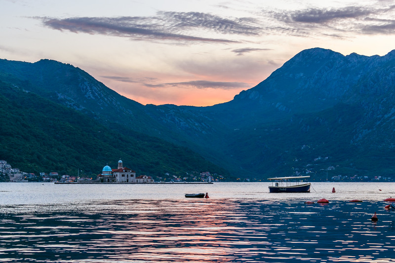 Bay of Kotor looking towards Ostrvo