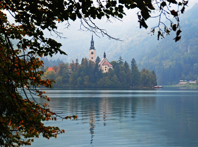 Monastery Island At Lake Bled