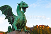 Dragon, symbol of  Ljubijana and the castle