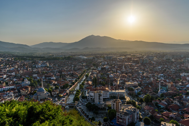 Prizren from the city fortress