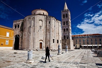 Remains of the Roman Forum in Zadar