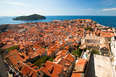 Dubrovnik Old Town from the surrounding wall