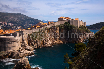 Walls and the coast at Dubrovnik