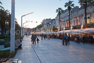 Riva in Split in the evening