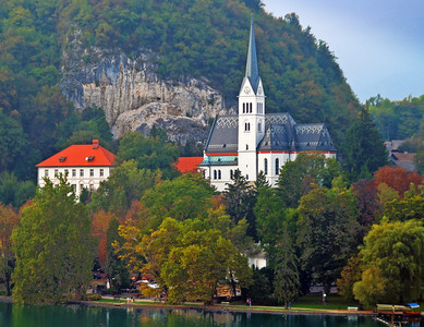 Across Lake Bled