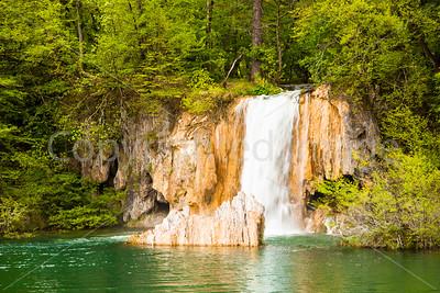 Waterfalls in Plitvice  Lakes National Park