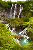 Waterfalls in Plitvice  Lakes National Park