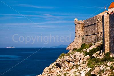 Dubrovnik sea walls