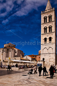 Main Square in Zadar on the Craotian Coast