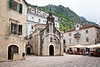 Church on the square in Kotor
