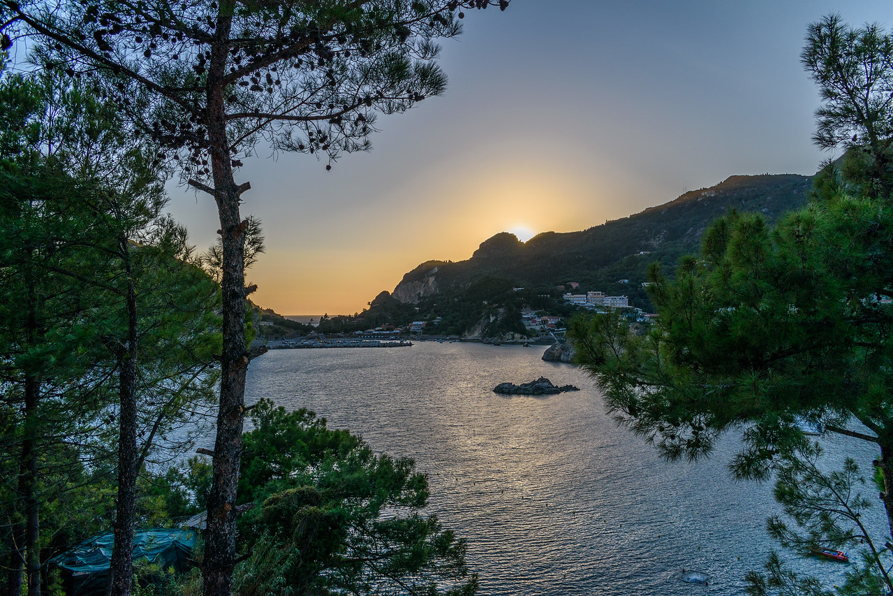 Sunset over Palaiokastritsa, Corfu