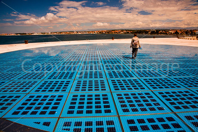 Solar cells on the coast of Zadar