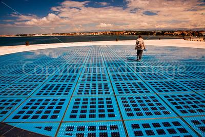 Solar cells on the coast of Zadar