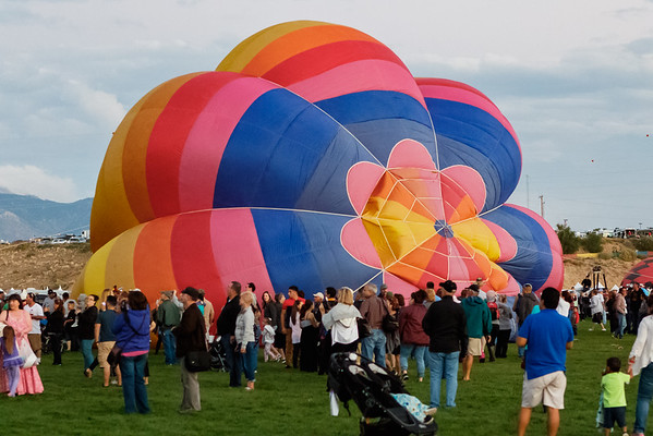 Albuquerque International Balloon Fiesta - Evening Session, Sat, Oct 3, 2015