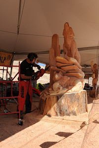 "The 38th Annual Albuquerque International Balloon Fiesta® , ""Echo Chainsaw Carving Championship"""