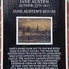 Southampton: Jane Austen's House sign on Juniper Berry Pub
