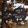 """Southampton: """"Walk the Southampton Walls"""" sign"""