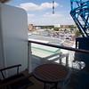 Southampton: From Celebrity Eclipse veranda toward Novotel