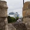 Southampton: Celebrity Eclipse through town wall