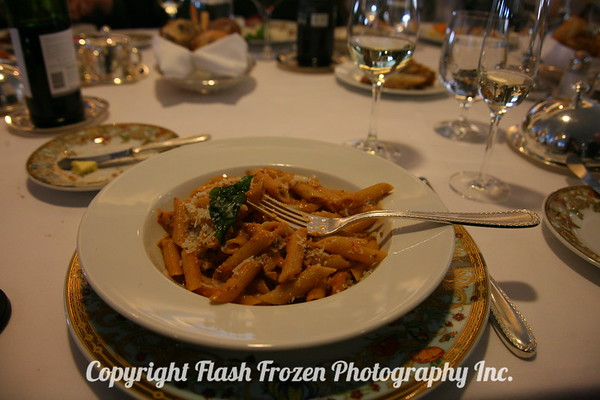 Pasta was delicious...love the Versace China