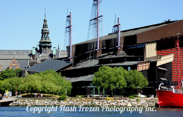 View of the Vasa Museum from the canal