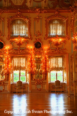Inside the Grand Palace of Peterhof..all the gold was amazing - everywhere