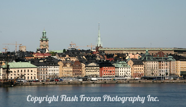 Canal View of Gamla Stan Area