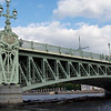 Trinity Bridge Over the Neva River