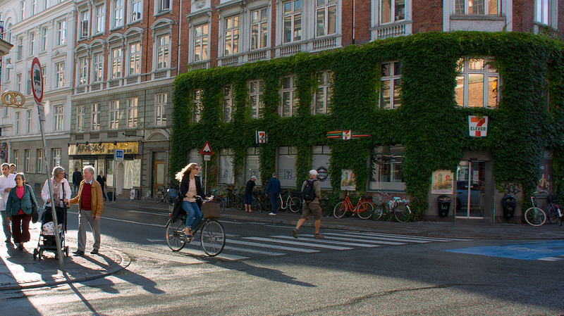 Everyone rides bikes in Copenhagen..