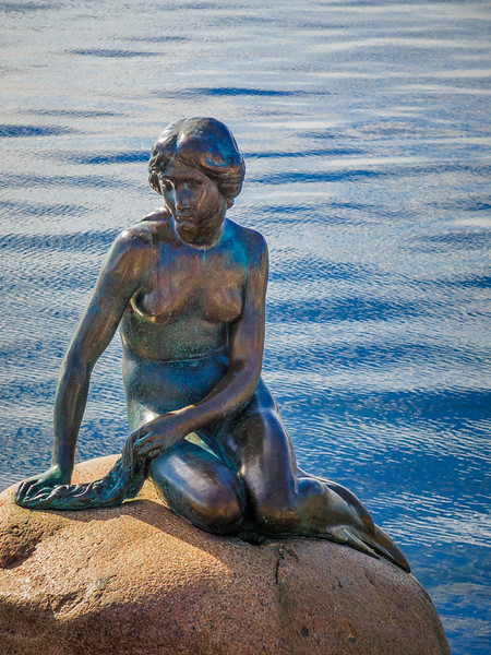 One of Copenhagen's biggest draws, The Little Mermaid and its not very big.