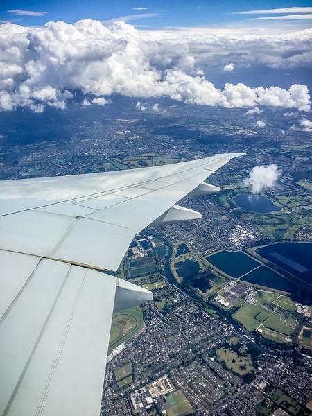 Flying in