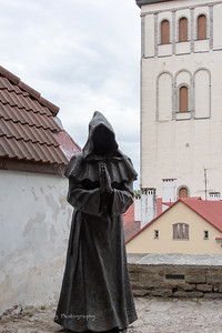 Monk scupture in Tallinn, Estonia.
